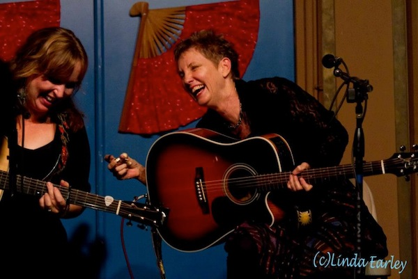 with Eliza Gilkyson at the Blue Door, Oklahoma City November 2012