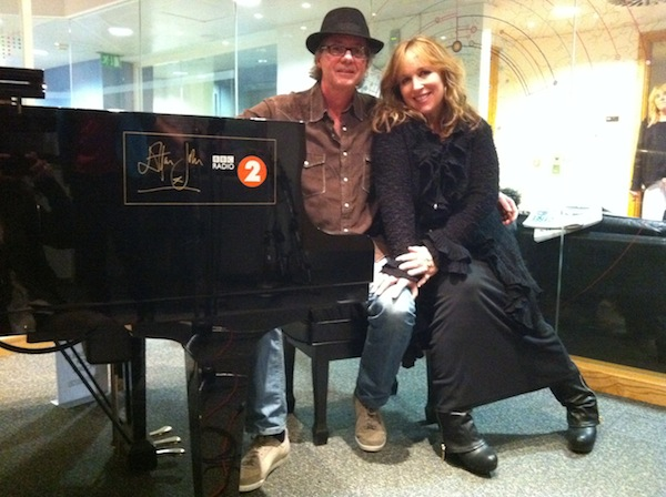 at BBC Radio 2 in London for Simon Mayo's show March 2012