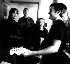 "As dream collaborations go, this was a good one - rehearsing ""Angel From Montgomery"" backstage with Jackson Browne, Bruce Hornsby & Bryan Adams Oakland, CA 1995"