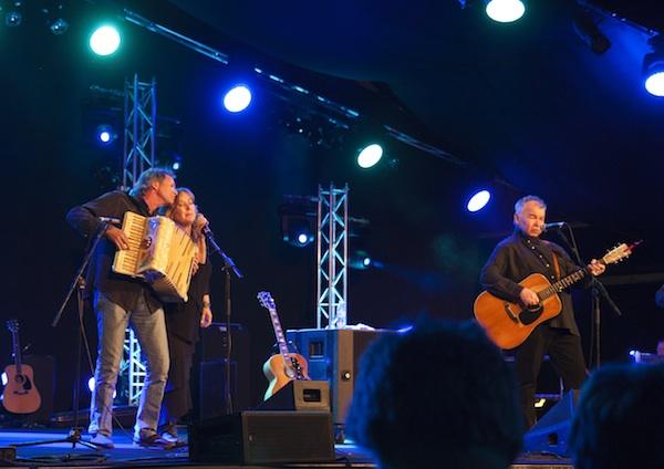 "singing ""Paradise"" with John Prine, Cambridge Folk Festival, July 2012"