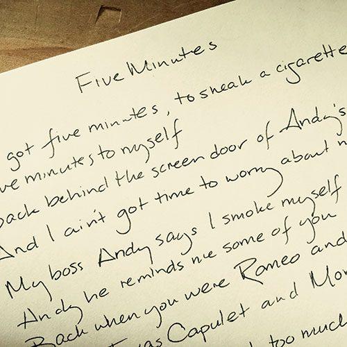Gretchen Peters - Handwritten Lyrics
